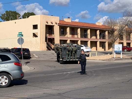 The Las Cruces Police Department responds to a situation in the 1500 block of Missouri Avenue on Tuesday, Dec. 10, 2019.