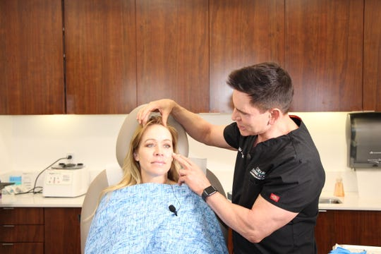 Ginger Jeffries received a rejuvenating treatment from Dr. Timothy Jochen.