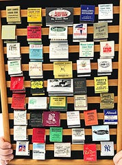 Mike Eidel's matchbook collection features long-shuttered restaurants and businesses.