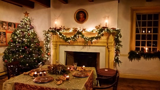 Mount Gulian's dining room is decorated for the holidays. Special tours are scheduled this week.