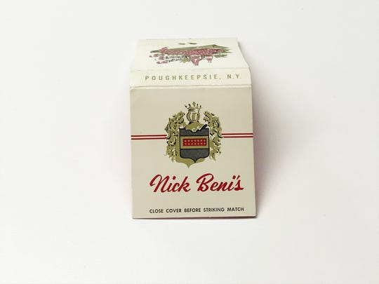 """A matchbook from Nick Beni's, part of Mike Eidel's collection. Many matchbooks carried the instructions to """"close cover before striking match."""""""