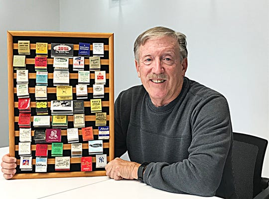 Mike Eidel of Poughkeepsie was never a smoker, but he collected matchbooks over the years.