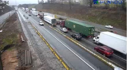 Interstate 83 traffic delay