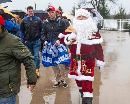 A large crowd of supporters wait in line outside of the Giant Center in Hershey, Pennsylvania to see President Donald Trump take the stage for a ÒKeep America GreatÓ rally at 7 p.m. Tuesday, December 10, 2019.