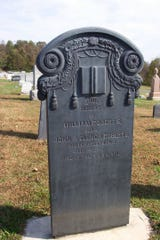 The first use of slate was for tombstones as seen here in Slateville Presbyterian Church cemetery southeast of Delta.