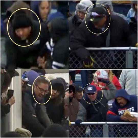 UNR police are looking for four fans who 'interacted' with student athletes at the Nevada-UNLV game.