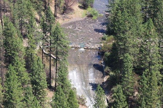The spillway at Misselbeck Dam west of Redding has been deemed unsafe by state officials.