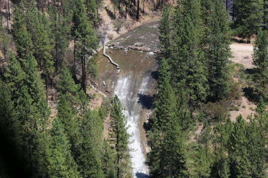 State officials have deemed the spillway at Misselbeck Dam west of Redding has unsafe to use.
