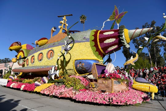 The Western Asset Management Company float wins the Fantasy Award at the 130th Rose Parade in Pasadena, Calif., Jan. 1, 2019.