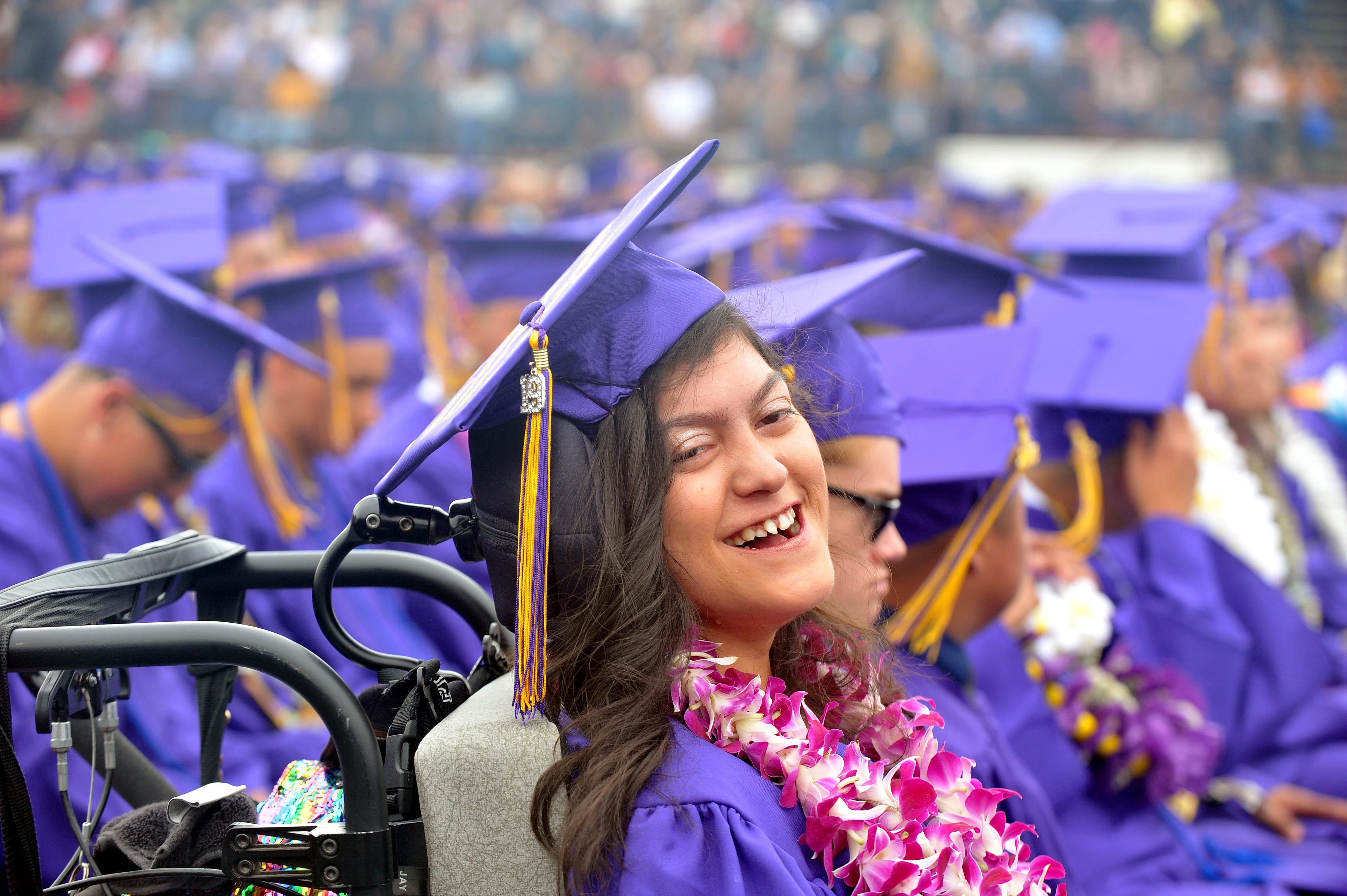 Karizma Vargas graduates from Salinas High School May 23, 2019.