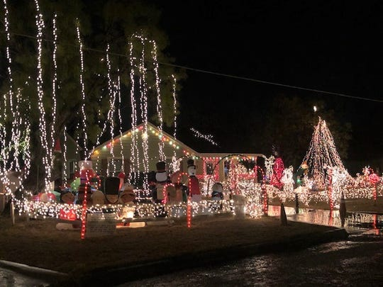 Extensive holiday display at 2110 S. Hill St.