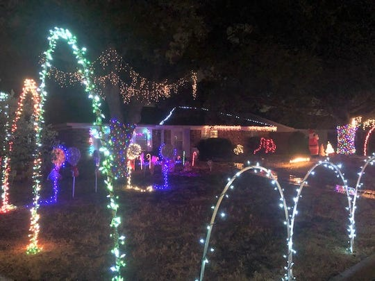 Christmas lights at 1810 N. Van Buren can be seen from blocks away.