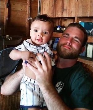 Logan Allen with nephew Malachi.