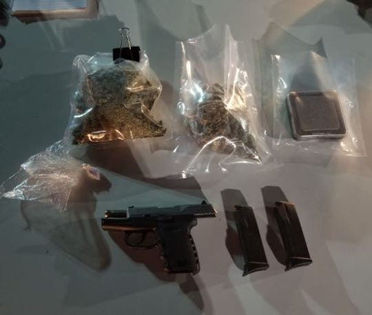 Pictured are items seized during the arrest of Alford Harris.