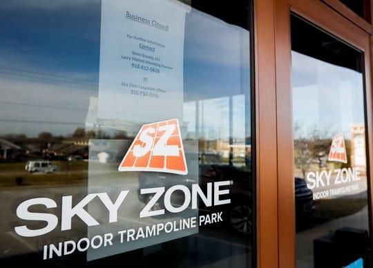 The Sky Zone Indoor Trampoline Park on Kansas Expressway has closed.