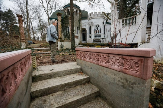 Jeff Brundege walks around his home at East Farm Road 148.