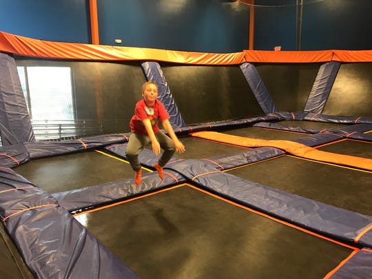 """Springfield-area resident Max Rehwald, 8, enjoys Sky Zone on Kansas Expressway on Sunday, Dec. 8, 2019. The """"wall-to-wall trampoline park"""" closed a few days later."""