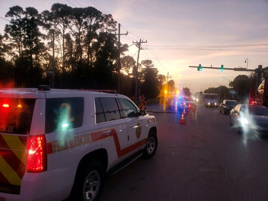 A four-vehicle crash that caused 60 gallons of chlorine to spill into the roadway snarled traffic Tuesday night on Martin Highway and 42nd Avenue.