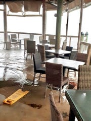 "A restaurant in Islamorada was flooded during this fall's unusually high ""king tides."""