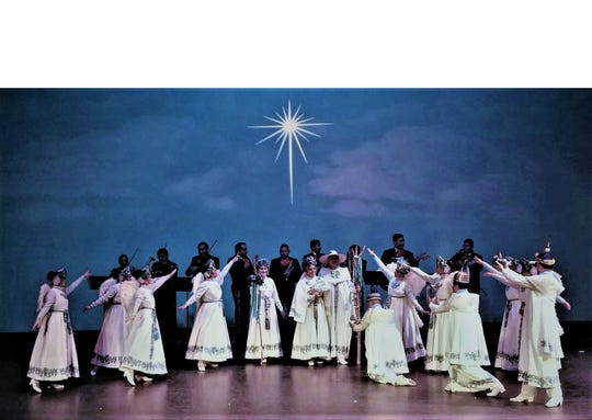 The Ballet Folklorico Paso del Norte performs a nativity scene as part of their posada program.
