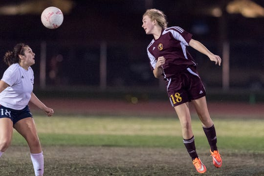 Tulare Union's Jaci Maze in an East Yosemite League high school girls soccer game against Tulare Western on Wednesday, February 7, 2018.