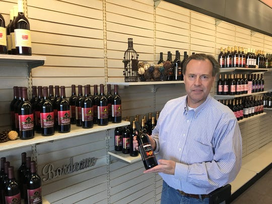 Russell Utech is co-owner of Wine Time, a new store that opened in Rib Mountain on Dec. 7, 2019. It sells bottles exclusively from Woodland Trail Winery in Oconto County.