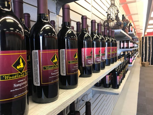 Wine Time in Rib Mountain has around 50 different kinds of wine available on the shelves. The store, which sells bottles from Woodland Trail Winery, opened on Dec. 7, 2019.