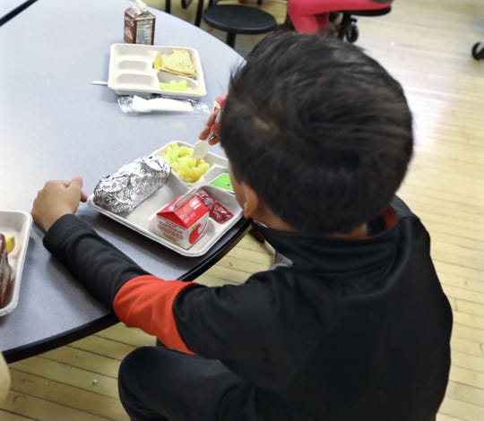 Students eat lunch period at R.P. Connor Elementary School in Suffern Dec. 9, 2019.