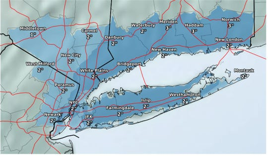 Snow is expected for the tri-state area Wednesday morning.