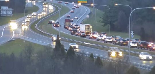 A crash Tuesday morning has closed the left lane of Del. 1 north near U.S. 40 in Bear.