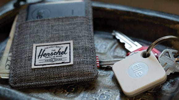 Keep track of your phone, keys, and wallet with the Tile.