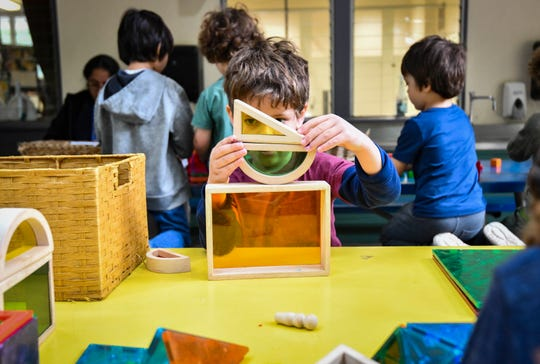 Preschool students at UCLA Lab School.