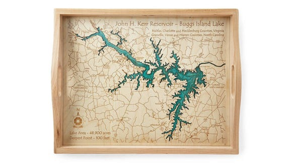Best personalized gifts 2019: Coastal and Lake Art Serving Tray