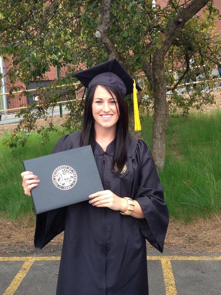 Mairin Jameson, seen here in a graduation picture, is a former University of Idaho diver who reported fellow student-athlete Jahrie Level for sexual assault in April 2013.