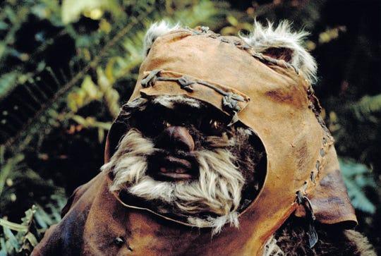 "Wicket the Ewok (Warwick Davis) became a mascot of the Rebellion in ""Return of the Jedi."""