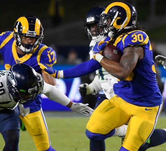 13. Rams (13): Todd Gurley has exceeded 100 yards from scrimmage in three of past four games. But looking like too little, too late for reigning NFC champs.