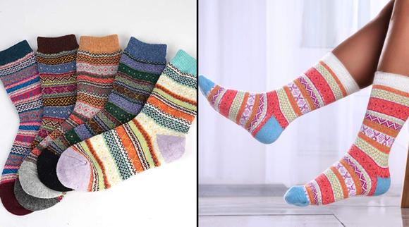 Best gifts under $10 2019: Warm Winter Wool Socks (5-pack)