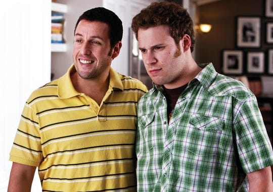 """George (Adam Sandler) and Ira (Seth Rogen) represent both ends of the comedy spectrum in """"Funny People."""""""