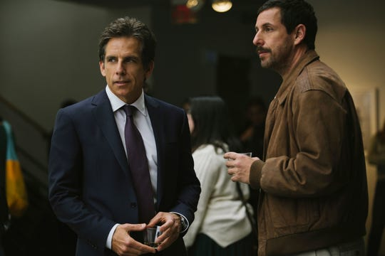 """Ben Stiller and Adam Sandler play half-brothers dealing with father issues in """"The Meyerowitz Stories."""""""