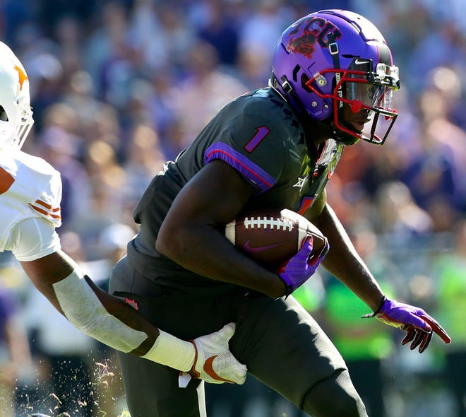 Former TCU receiver Jalen Reagor offers speed and a strong build.