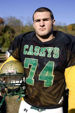 Red Bak Catholic defensive lineman Joe Coscarelli in a 2010 photo.