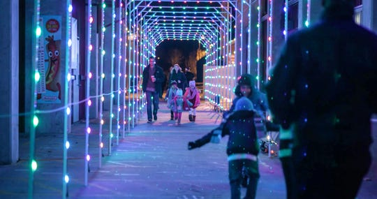 Lights warm up the winter night at Skylands.