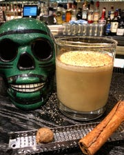 Served at Barrio Costero and sister restaurant Reyla in Asbury Park, Dodge's Nogg is egg nog spiked with Irish whiskey, cognac, dark rum and walnut liqueur.