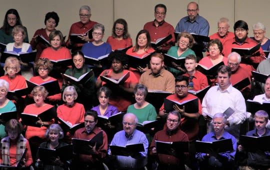 "Singers representing seven Abilene church choirs joined the Philharmonic orchestra Saturday for its ""A Hometown Christmas"" concert at the Abilene Convention Center."