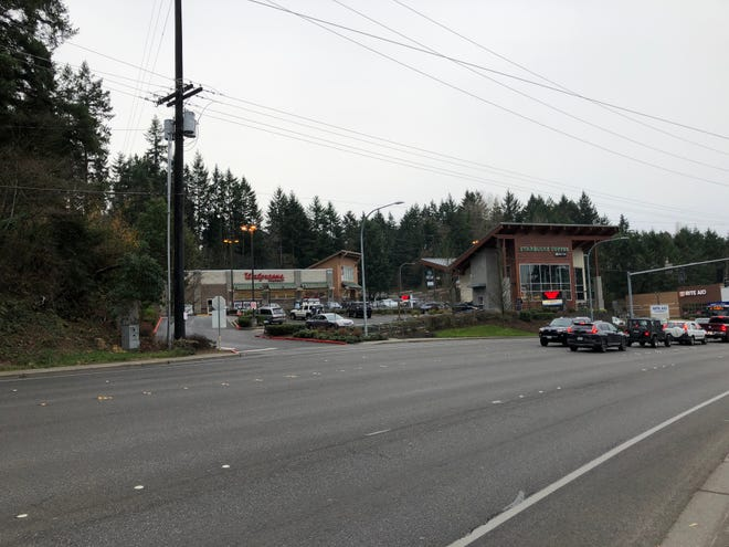 Bremerton public works officials plan to install a curb along the turn lane near the entrance to Starbucks on Kitsap Way.