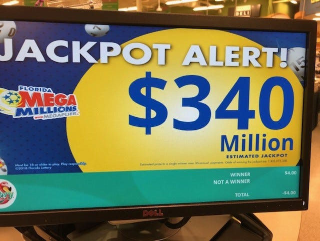 The Mega Millions jackpot continues to rise.