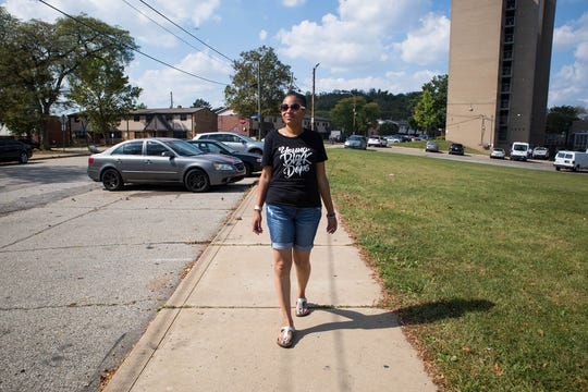 Olivia Bennett on Mt. Pleasant Road in Pittsburgh's Northview Heights neighborhood. Bennett won the Nov. 5 election for the District 13 seat on the Allegheny County Council.