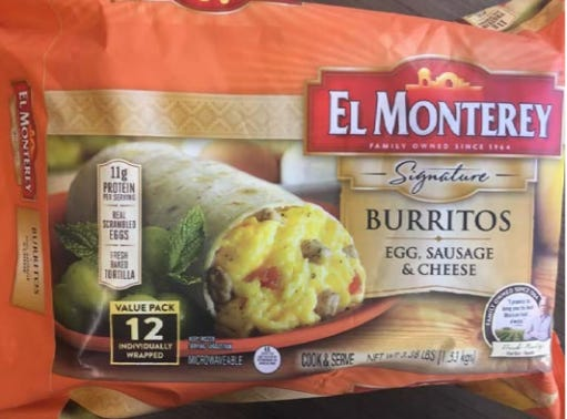Ruiz Food Products Inc.is recalling approximately 55,013 pounds of frozen breakfast burrito productsthat may be contaminated with pieces of plastic, the U.S. Department of Agriculture's Food Safety and Inspection Service said.