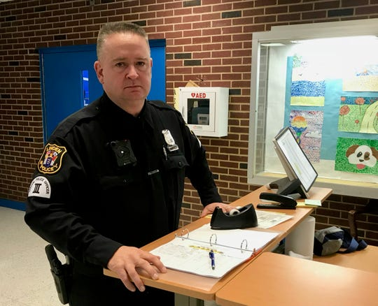 Linden Special Officer Joe Walsh works at Soehl Middle School