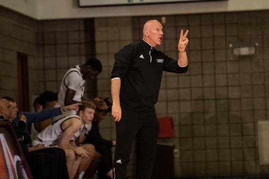 Mark Taylor coaches St. Benedict's Prep during his 500th career win on Tuesday night.